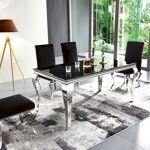 Table à manger design EMA Table à manger EMA avec finition brillant et... par LeGuide.com Publicité