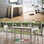 Table Console extensible Isotta Bois - Couleurs - Frêne blanc, Nombre... par LeGuide.com Publicité