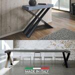 Table Console extensible Diago - Couleurs - Bois béton, Nombre d'extensions... par LeGuide.com Publicité