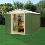yardmaster  Yardmaster Abri de jardin métal vert 7,18m² + kit d'ancrage... par LeGuide.com Publicité