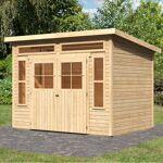 karibu  Karibu Abri de jardin toit plat 9,24m² en bois brut 19mm Tinkenau... par LeGuide.com Publicité