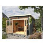 karibu  Karibu Abri toit plat 9,24m² en bois vitrifié gris 19mm Tinkenau... par LeGuide.com Publicité