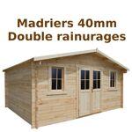Gardy Shelter Abri en bois massif 19,8m² PLUS 40mm brut Gardy Shelter... par LeGuide.com Publicité
