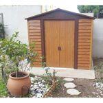 X-Metal Abri de jardin en métal aspect bois 4,6m² + kit d'ancrage... par LeGuide.com Publicité