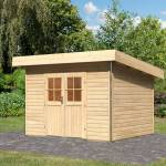 karibu  Karibu Abri toit plat en bois massif 40mm 9,55m² Moosburg 3 Premium... par LeGuide.com Publicité