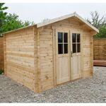 Gardy Shelter Abri de jardin en bois massif 9m² PLUS - madriers 28mm... par LeGuide.com Publicité