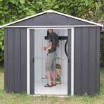 yardmaster  Yardmaster Abri de jardin métal anthracite 7,18m² + kit d'ancrage... par LeGuide.com Publicité