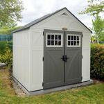Suncast Abri de jardin polyéthylène 35mm 5,53m² Woodgrain + plancher... par LeGuide.com Publicité