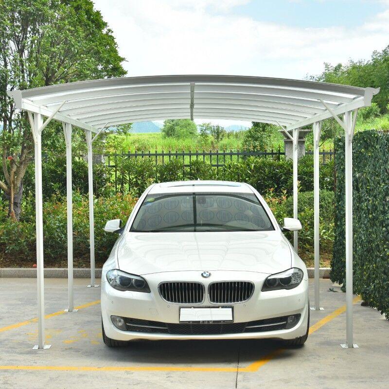 X-Metal Carport en aluminium blanc 3x5,76m et polycarbonate 6mm X-METAL
