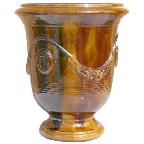 Terre Figuière Vase d'Anduze en terre cuite émaillée Flammé Terre Figuière