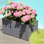 Jardinière en fibre de terre 60x30xH.30cm gris ciment Matière : Fibre... par LeGuide.com Publicité