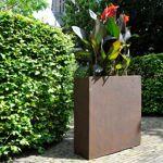 Bac à plantes en fibre de terre 60x25xH.72cm effet rouille Bac à plantes... par LeGuide.com Publicité