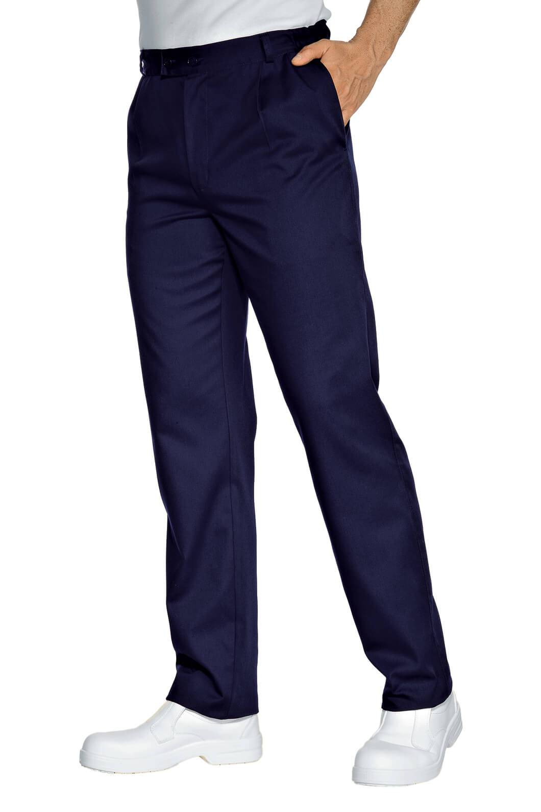 ISACCO Pantalon Chef Cuisinier Bleu