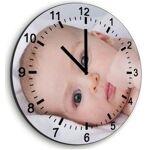 Horloge ronde en verre Horloge en verre sur mesure avec l'arrière... par LeGuide.com Publicité