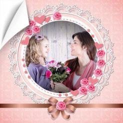 Poster rose coeur photo