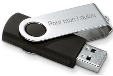 Clé USB gravée