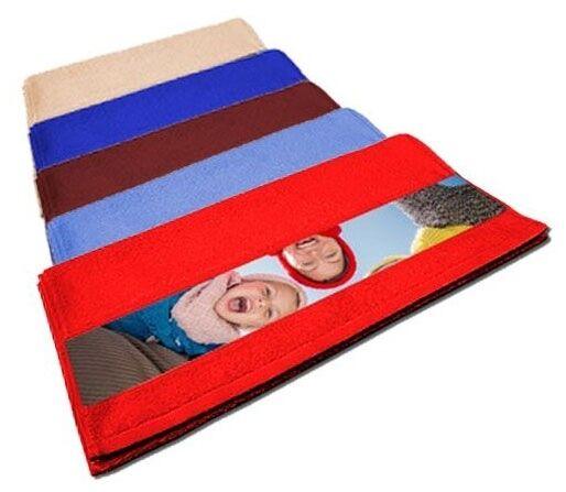 Serviette colorée avec photo