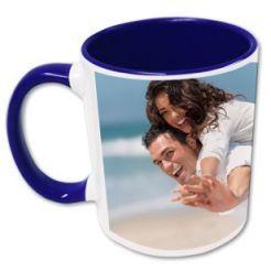 Mug photo bleu