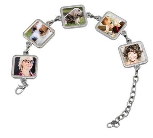 Bracelet 5 carrés photos