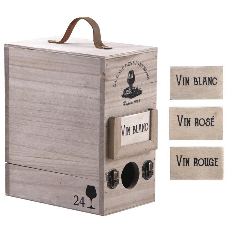 Boite à cubi en bois 3 litres
