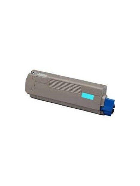 Cartouche toner C610 compatible pour Oki Coloris - Cyan