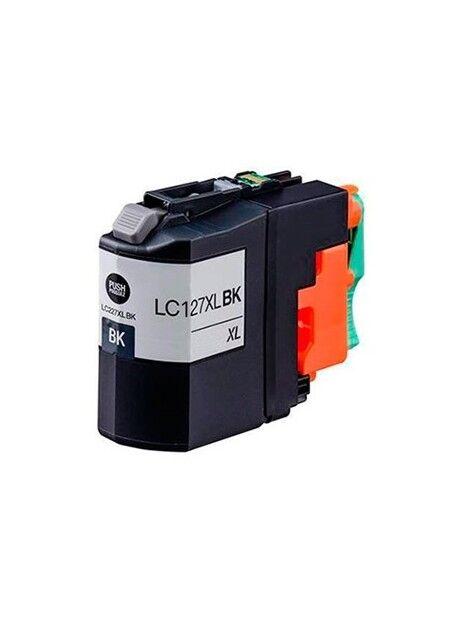 Cartouche d'encre LC127XL compatible pour Brother Coloris - Noir