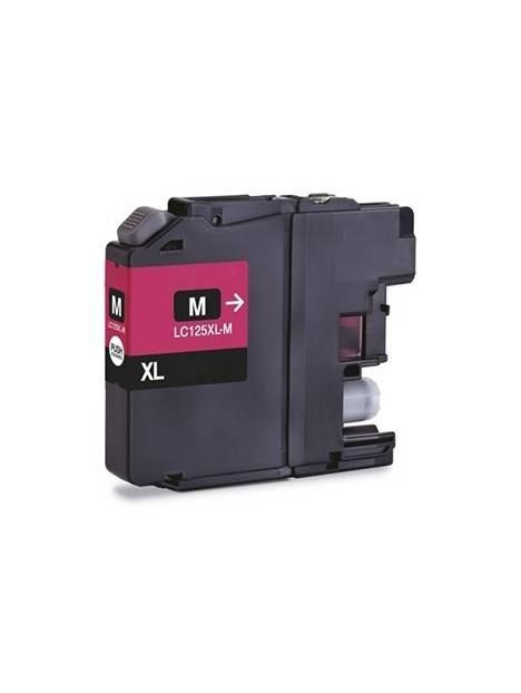 Cartouche d'encre LC127XL compatible pour Brother Coloris - Magenta