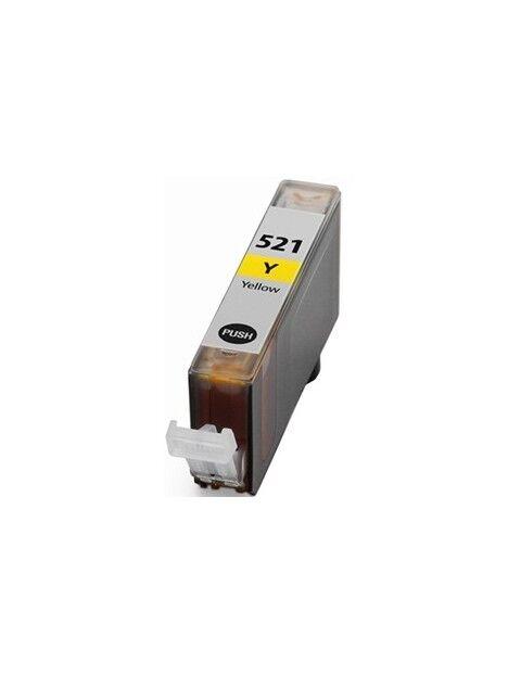 Cartouche d'encre CLI-521 compatible pour Canon Coloris - Jaune