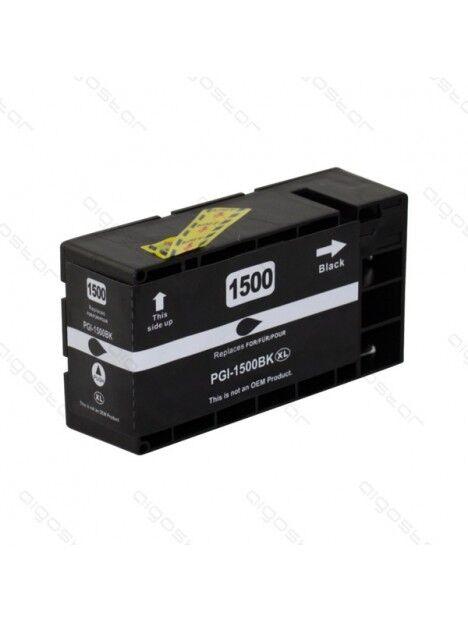 Cartouche d'encre PGI-1500 compatible pour Canon Coloris - Noir