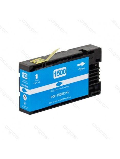 Cartouche d'encre PGI-1500 compatible pour Canon Coloris - Cyan