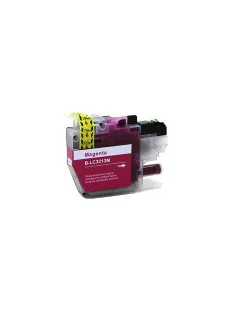 Cartouche d'encre LC3213 / LC3211 compatible pour Brother Coloris - Magenta