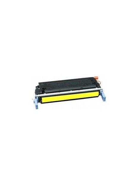 Cartouche toner C9720A générique pour HP Coloris - Jaune