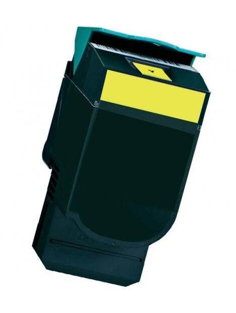 Cartouche toner C540N/C544DN/X544N compatible pour Lexmark Coloris - Jaune