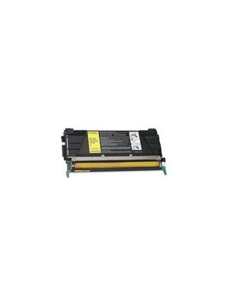 Cartouche toner C734/C736/X738 compatible pour Lexmark Coloris - Jaune