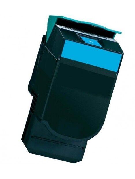 Cartouche toner CX410/CX510 compatible pour Lexmark Coloris - Cyan
