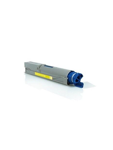 Cartouche toner C3520/C3530/MC350/MC360 compatible pour Oki Coloris - Jaune