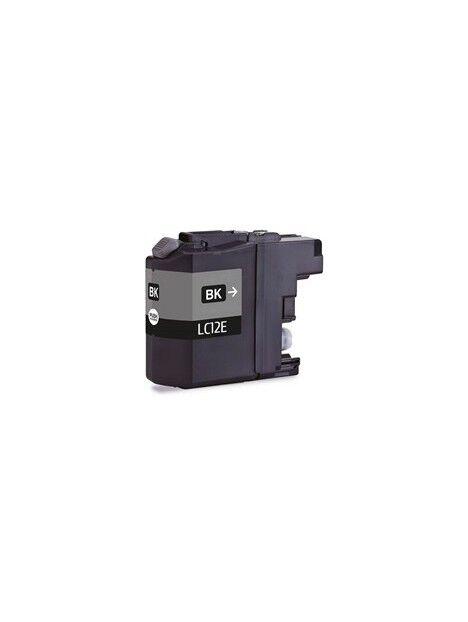 Cartouche d'encre LC12E compatible pour Brother Coloris - Noir