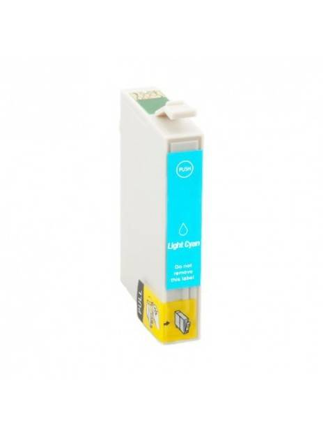 Cartouche d'encre T0791 compatible pour Epson Coloris - Cyan clair