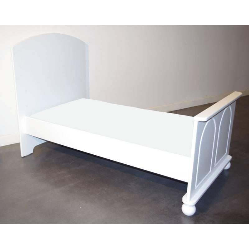 Drap Housse 160 cm x 70 cm pour Lit Junior - Disponible en 12 couleurs - Blanc - L160 cm l70 cm