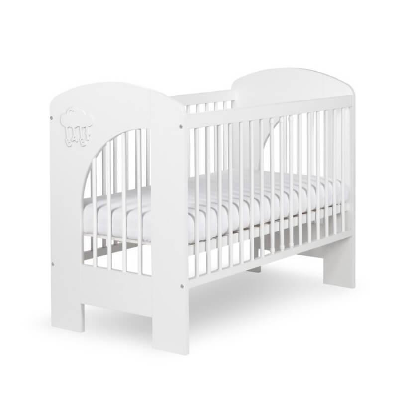 Lit bébé blanc et gris Nel