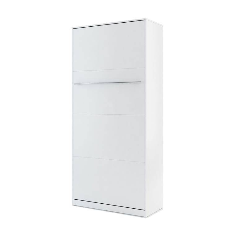 Petite Chambre Lit armoire escamotable blanc   Taille personnalisable   Blanc   Panneaux Stratifiés   petitechambre.fr