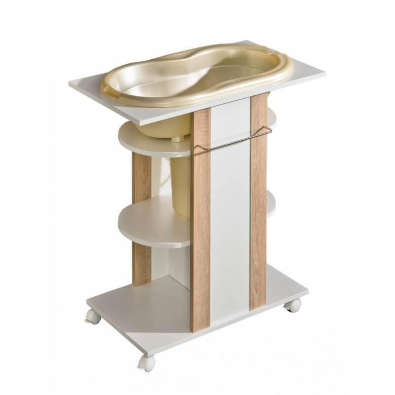 Commode de bain Lara - Chêne - H95 cm
