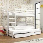 Lano Lit superposé blanc Tomi Dimension : 90x190cm / 3 couchages fabriqué... par LeGuide.com Publicité