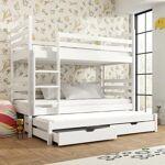 Lano Lit superposé séparable 3 couchages TOMI - Blanc - 80 cm x 180 cm... par LeGuide.com Publicité
