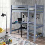 Meblobed Lit mezzanine Milo personnalisable - Gris - 80 cm x 180 cm,80... par LeGuide.com Publicité