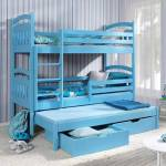 Meblobed Lit superposé bleu Jack 3 couchages - 80 cm x 180 cm Livraison... par LeGuide.com Publicité