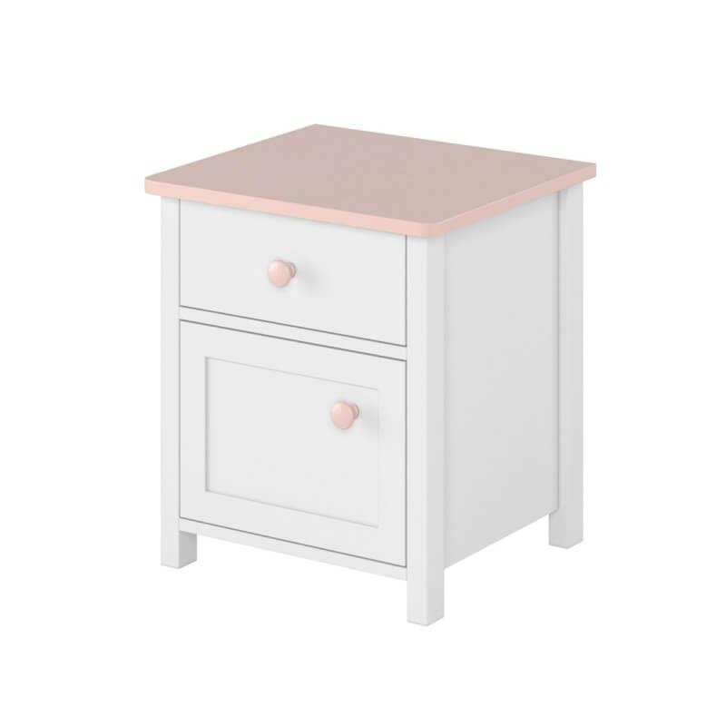 Table de chevet - Blanc - H51 cm