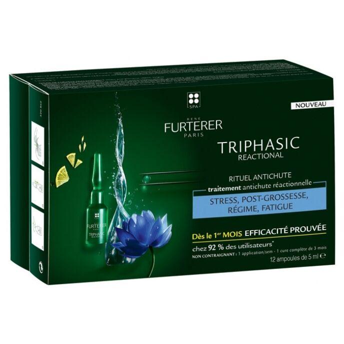 Furterer Triphasic Reactional 12 Flacons + Shampooing 100 ml Offert