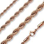Piercing Street   Chaîne en acier inoxydable maille corde or rose... par LeGuide.com Publicité