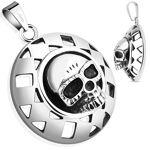 Piercing Street   Pendentif bouclier skull   Pendentif en acier représentant... par LeGuide.com Publicité